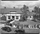 People in line going to Festival Hall, North Dakota State Agricultural College, Fargo, N.D.