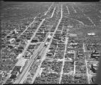 Aerial view looking east over downtown Fargo, N.D.