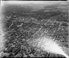 Aerial over Moorhead, Minn. looking northwest