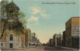 City Hall and N.P. Avenue, Fargo, N. Dak.