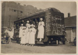 Company B Auxiliary & Red Cross Canteen Unit parade float, Fargo, N.D.