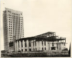 North Dakota State Capitol building under construction, Bismarck, N.D.