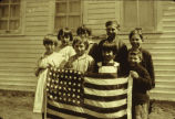 Patriotic children with flag