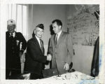 William Stern shaking hands with Richard Nixon