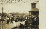 Campaign train of Theodore Roosevelt at Great Northern Depot, Fargo, N.D.