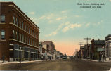 Main Street, looking east, Ellendale, No. Dak.