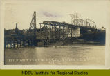 Building the new steel bridge at Drayton, N.D.