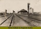 N.P. depot and Occident elevator, Beach, N.D.