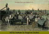 Threshing scene near Grafton, N.D.