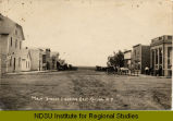 Main Street looking east, Cayuga, N.D.