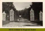 Sully's Hill Park gate, Ft. Totten, N.D.