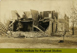 Ruined house after tornado, Langdon, N.D.