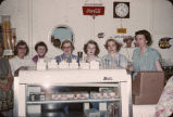 4-H girls at Linton Creamery, Linton, N.D.
