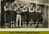 High school basketball team, Jamestown, N.D.
