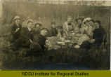 Young people at a picnic