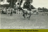 Looking for a place to light , Mandan Rodeo (doubleday)
