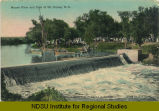 Mouse River and Dam at Mc Kinney, N.D.