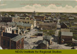 Panorama view of Towner, N.D. looking south from top of elevator.
