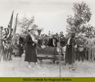 Federation of Women's Clubs pioneer mother project dedication, North Dakota State Capitol groundbreaking