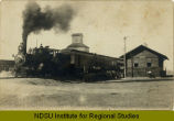 Railroad train at Reeder, N.D. depot