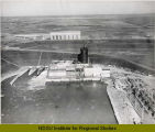Aerial view over Garrison Dam, N.D.