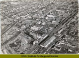 Aerial over west Main Ave., Fargo, N.D.