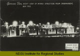 Garrison Dam, night view of intake structure from embankment, May 1952