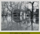 Parkway Apartments during 1952 flood, Fargo, N.D.