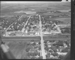 Aerial view over Lake Park, Minn.