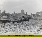 Fire June 7, 1893, Fargo, N.D. Taken on Broadway looking northwest towards Sterns new block,...