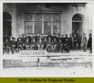 Fargo Daily Argus newspaper staff and office