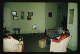 Women watching television at the YWCA of Fargo-Moorhead, Fargo, N.D.