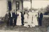 Nellie Johnson and Seward M. Hydle wedding party