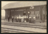 N.D.A.C. students at Muskoda, Minnesota railroad depot