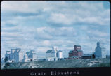 Grain elevators at New England, N.D.