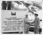U.S. Army Corps of Engineers, Flood Control Project, Red River of the North sign