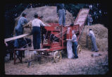 Hand-fed thresher owned by Henry Disrud, St. John, N.D., one of the first in N.D.