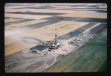 Aerial view of Tioga oil well