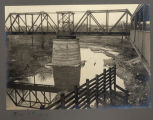 Northern Pacific bridge between Fargo, N.D. and Moorhead, Minn. during drought
