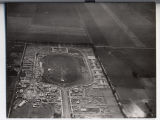 Aerial looking west over the North Dakota State Fairgrounds, Fargo, N.D.
