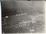 Aerial view of North Dakota State Fairgrounds, looking northeast, Fargo, N.D.