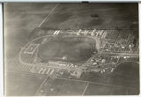 Aerial view of North Dakota State Fairgrounds, looking northwest, Fargo, N.D.