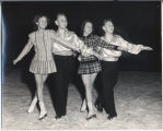 Sandra Johnson, Don Simpson, Linda Foster, Dick Simpson on figure skates, Fargo, N.D.