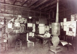 Interior of Great Northern Depot in Chaffee, N.D.