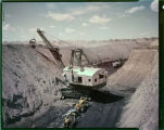 Mining lignite coal, Truax Traer Coal Co. near Hazen, N.D.