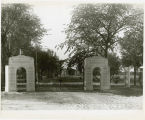 Front gates to Riverside Cemetery, Fargo, N.D.