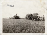 Threshing scenes from long ago
