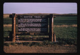 Custer Trail marker near New Salem, N.D.