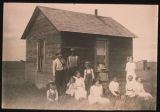 Homestead shack of Sjannette Corneliusen, Pierce County, N.D.