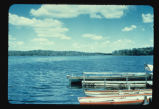 Boat dock on Lake Metigoshe, N.D.